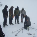 Learning Snow Anchor Basics in the Field