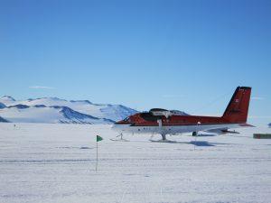 Twin Otter at Union Glacier (Greg Vernovage)
