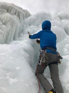 Craig Starting Up the Ice, Willie's Slide (Joe M.)