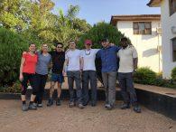 Team at the hotel in Moshi (Tye Chapman)