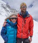 Justin Merle and fellow IMG Guide Emily Johnston (Paul Pottinger)