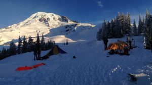 Great view in perfect weather from Lower Cornice Camp (Dustin Balderach)