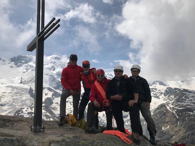 On the summit of the Rifflehorn (Andy Polloczek)