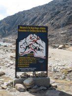 Sign at Huayna Potosi Base Camp Refugio (Greg Vernovage)