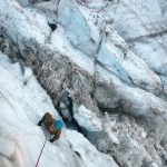 Ice climbing lower Coleman glacier (Jonathan Schrock)