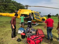 Gear pile for the Carstensz flights (Austin Shannon)