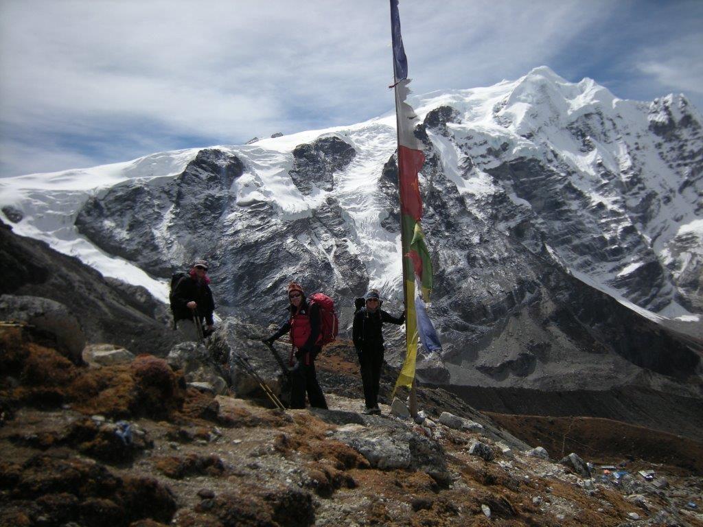 Mera Peak with high camp near the rocks (Eric Simonson)