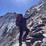 Phinjo climbing Amphu Lapsta (Nate Berry)