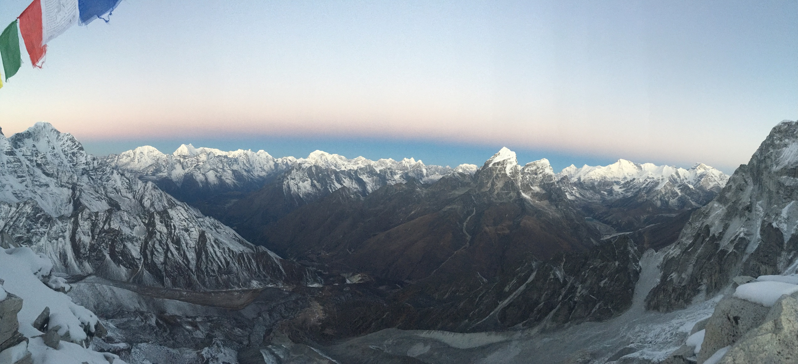 Panorama from Camp 1 on Ama Dablam (Kevin Kayl)