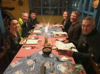 Team dinner after a successful climb of Cayambe (Luke Reilly)