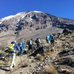 Team looking solid on the trail (Phunuru Sherpa)