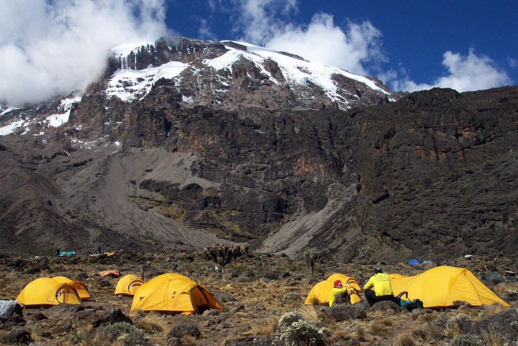 Looking at Kilimanjaro from Barranco Camp (Eric Simonson)