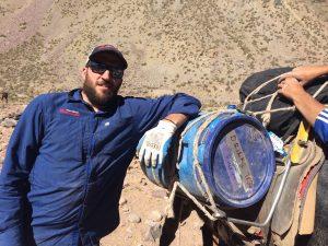 Local guide Martin Lucero preps a mule load (Luke Reilly)