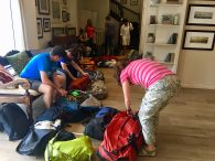 Final packing session, heading home after an amazing adventure (Phunuru Sherpa)