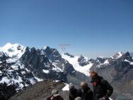 Summit of Pico Austria looking at Pequeno Alpamayo (Greg Vernovage)