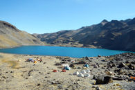 Base Camp at Pequeno Alpamayo (Roberto Gomez)