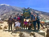 International Mountain Guides team in Barafu Camp on Kilimanjaro (Phunuru Sherpa)