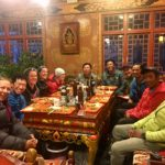 2019 Cho Oyu team celebrates in Kyirong (Phunuru Sherpa)