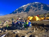Lunch at Barafu Camp (Phunuru Sherpa)