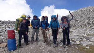 2019 Cho Oyu Team departing ABC (Kaji Sherpa)