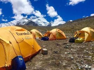 Gyaplung (Intermediate Camp) with Cho Oyu (Phunuru Sherpa)