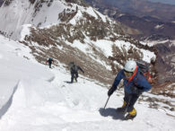 IMG Climbers on Upper Aconcagua
