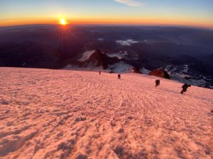 Hard to beat a sunrise on Mt. Rainier! (Jonathan Schrock)
