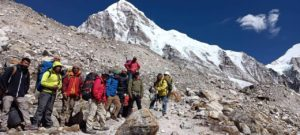 Advanced Team heading to EBC (Karma Rita Sherpa)