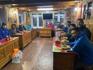 Dinner in Phaplu (Phunuru Sherpa)