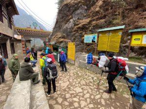 Entering Sagarmatha Park at Monjo (Jonathan Schrock)