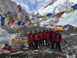SPCC Icefall doctors at their puja base camp (Phunuru Sherpa)