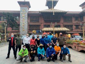 Team 1 departing KTM (Ang Jangbu Sherpa)