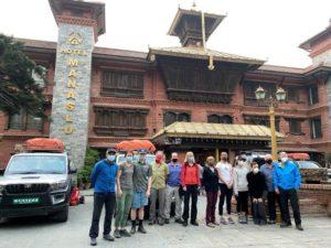 Team 2 departing KTM (Ang Jangbu Sherpa)