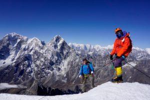 Climbers descending from the summit of Lobuche (Nawang_Tenzing Sherpa)