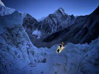 Climbers navigating the Khumbu Icefall (Jonathan Schrock)