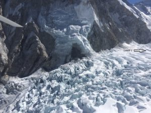 Khumbu Icefall March 2021 (Phunuru Sherpa)