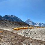 Lobuche Base Camp with Ama Dablam in the distance (Ang Jangbu Sherpa)