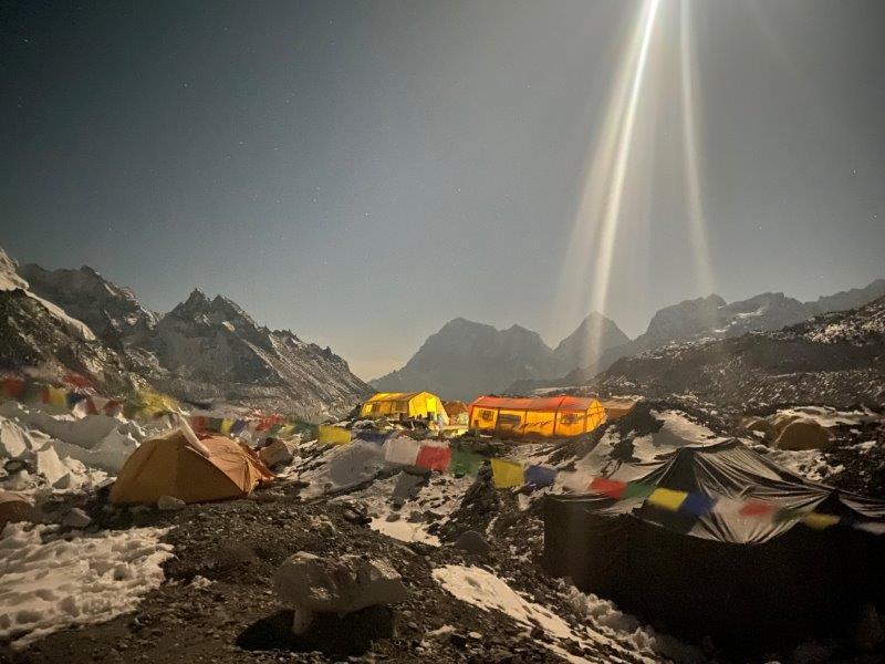 Looking down valley with a full moon (Ang Jangbu Sherpa)