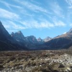 Looking up valley from Pheriche with Cholatse (left) and_Lobuche (right) (Sonam Dore Sherpa)