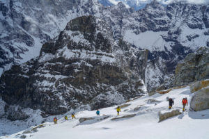 On the way to High Camp on Lobuche Peak (Harry Hamlin)
