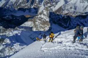 On the way to the summit of Lobuche Peak (Harry Hamlin)