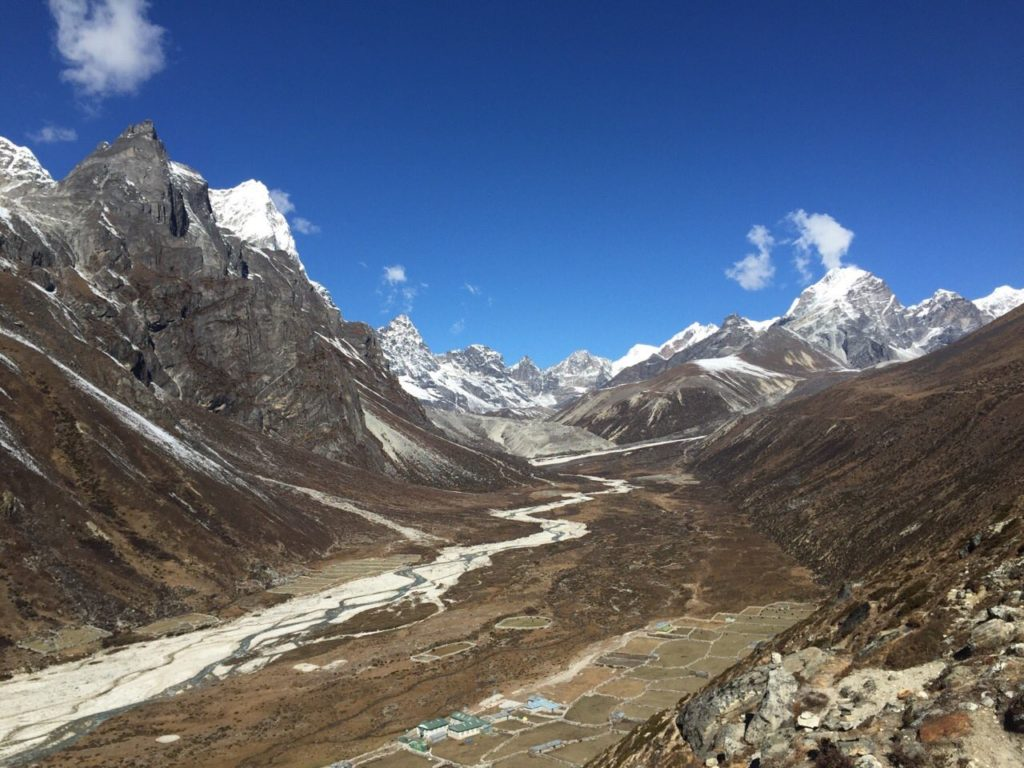 Pheriche with Lobuche Peak and Cho Oyu in the distance (Austin Shannon)