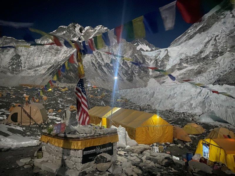 Predawn light at EBC (Ang Jangbu Sherpa)