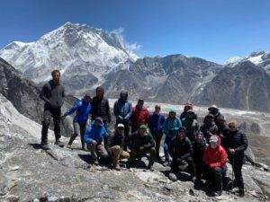 Team 1 above Lobuche base camp (Jonathan Schrock)