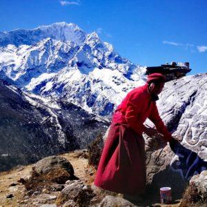 Thamserku from upper Pangboche (Mingma Tshering)