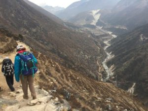 The high trail from Phortse to Pangboche (Eric Simonson)