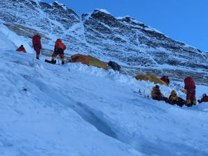 Camp 3 on Mount Everest (Phunuru Sherpa)
