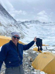 IMG Guide Andy Politz drying his socks at Camp 2 (Rawan Dakik)