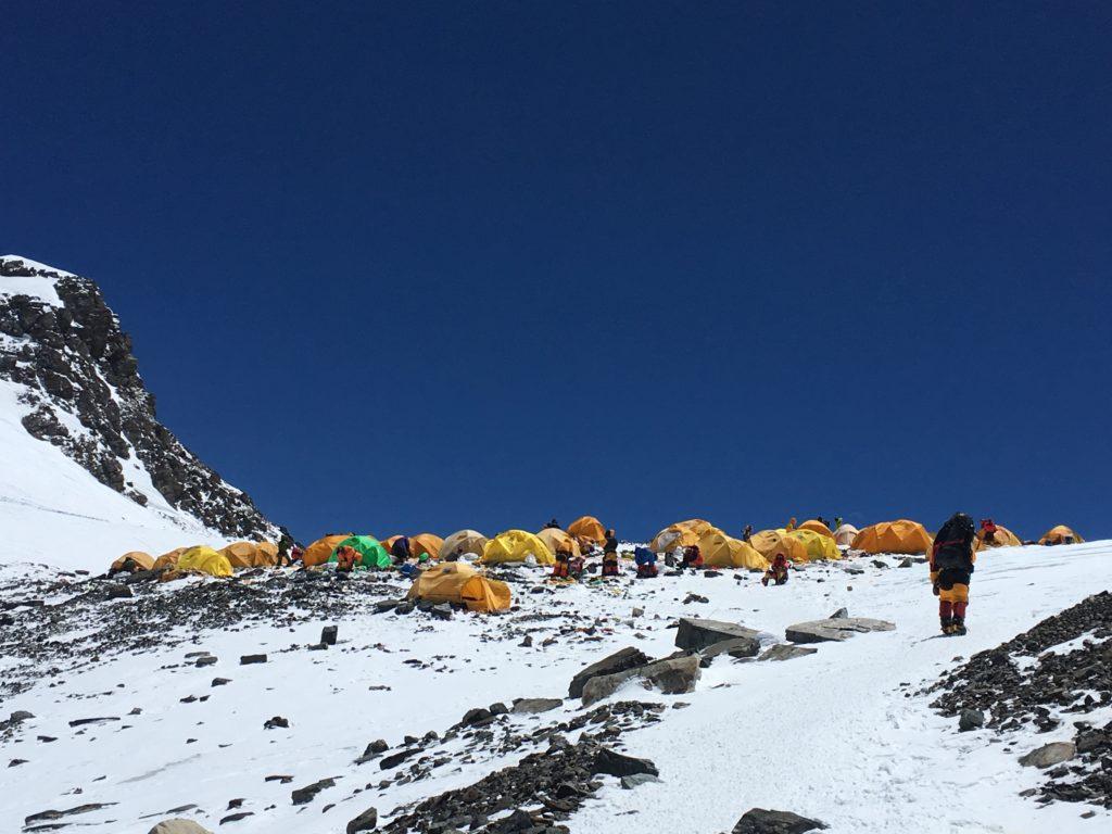 Last steps into the South Col (Phunuru Sherpa)