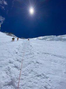 Looking up the Lhotse Face (Rawan Dakik)